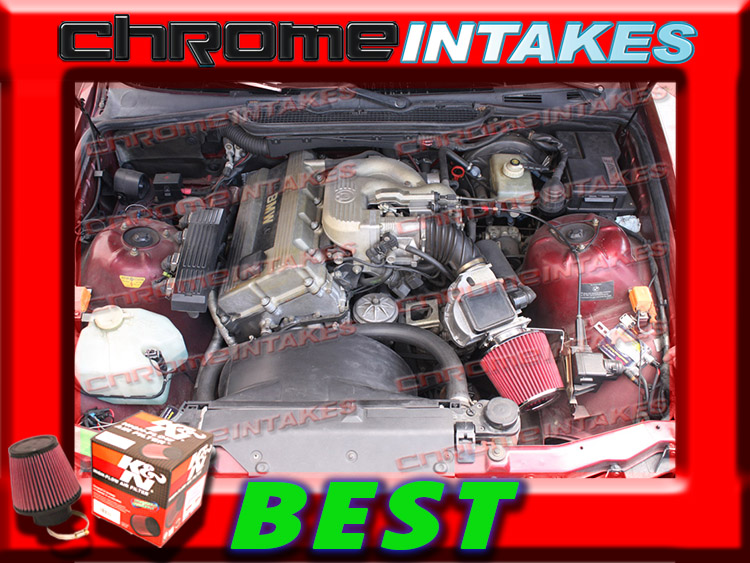 RED Filter For 92-95 BMW 318 318i 318is 318ti 1.8 L4 Short Ram Air Intake Kit