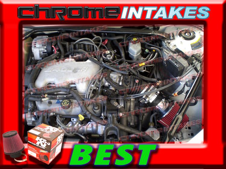 CF BLACK RED 99 00 01 02 03 04 05 1999-2005 BUICK CENTURY 3.1 3.1L V6 AIR INTAKE