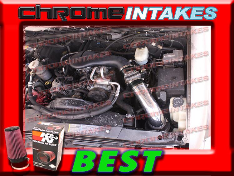 96-05 CHEVY S10 S-10//ZR2//ZR5//BLAZER//SONOMA//JIMMY 4.3 4.3L V6 COLD AIR INTAKE RED