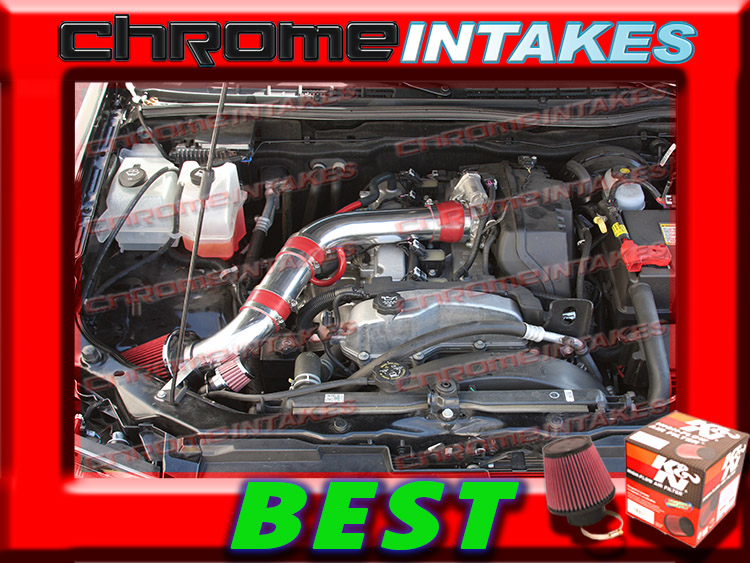 2007-2012 CHEVY COLORADO//GMC CANYON 2.9L AIR INTAKE KIT+CHF TBH Black Red