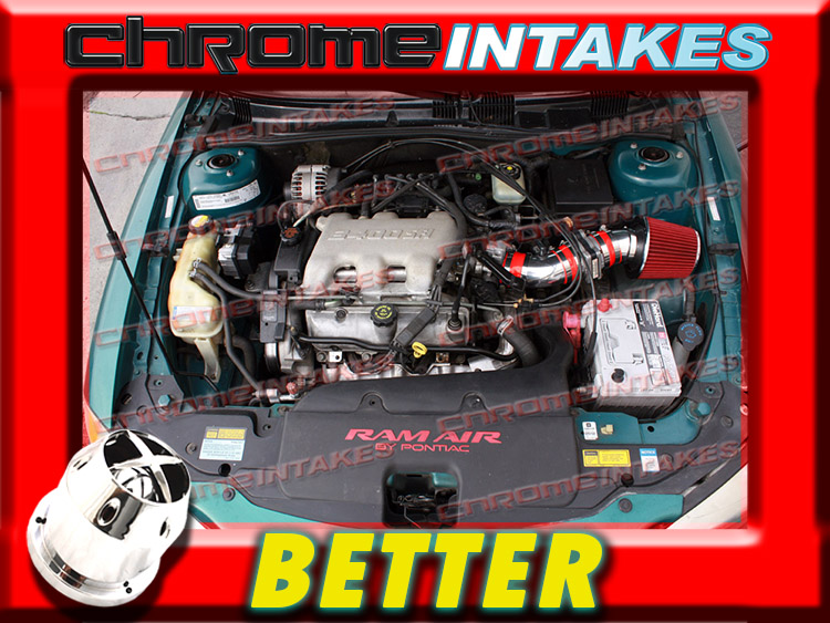 K/&N+RED 1994 1995 BUICK SKYLARK//ACHIEVA//PONTIAC GRAND AM 3.1L V6 AIR INTAKE TB