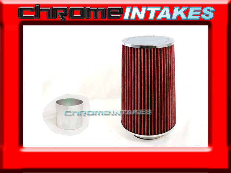 """RED 2007 UNIVERSAL 89mm 3.5/"""" INCHES BIG TALL 9/"""" AIR INTAKE FILTER"""