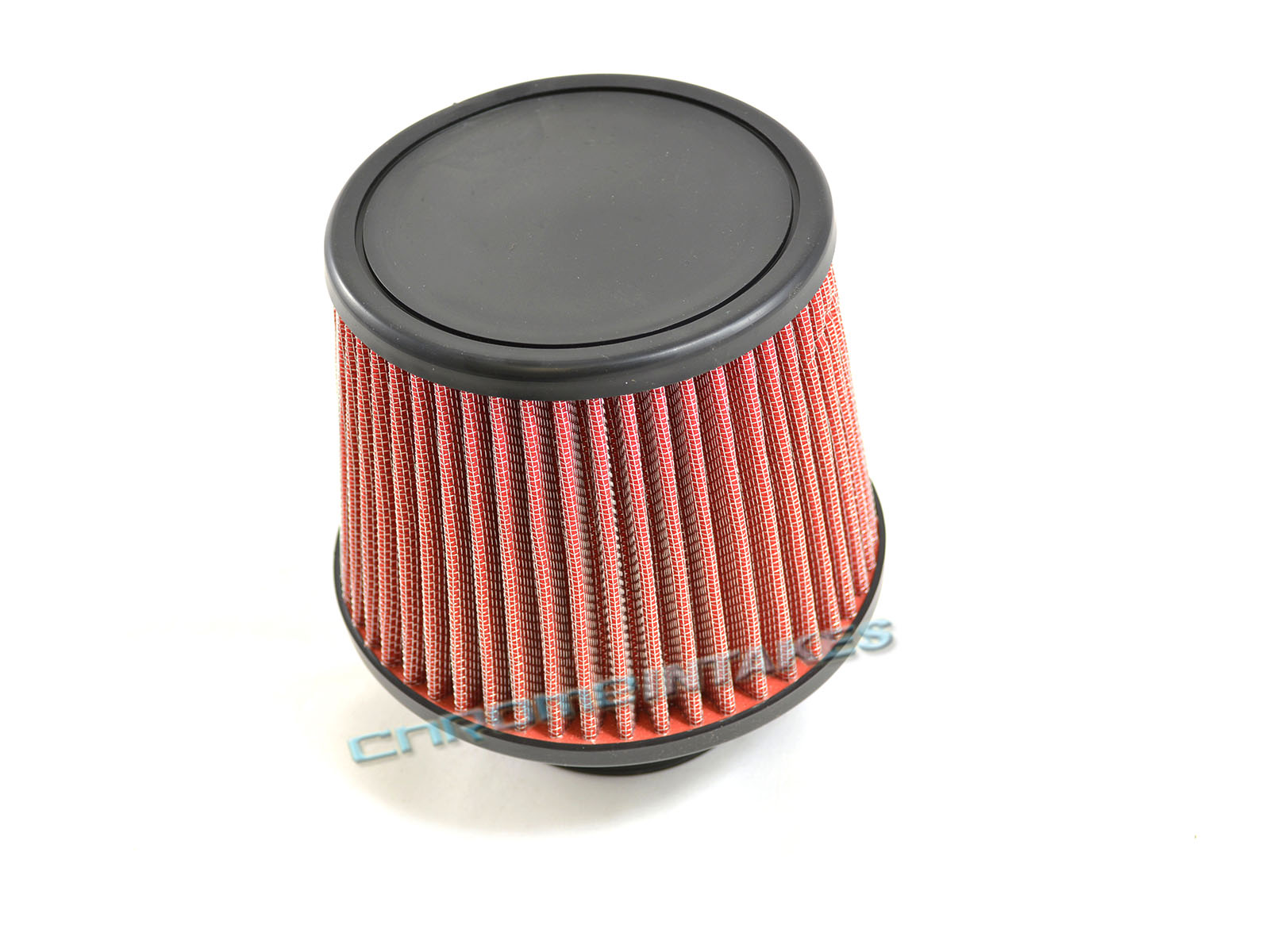 "RED 1998 UNIVERSAL 76mm 3/"" INCHES CHROME HEATSHIELD AIR INTAKE FILTER"