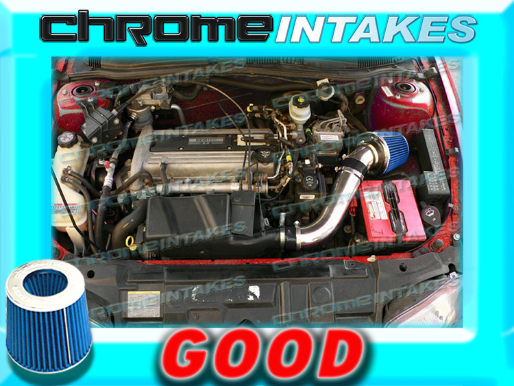 K/&N+BLUE RED 02-05 CHEVY CAVALIER//PONTIAC SUNFIRE 2.2L ECOTEC AIR INTAKE TBH