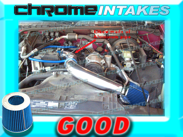 """BLUE 1994-1997//94-97 CHEVY S10//XTREME//HOMBRE//SONOMA 2.2L FULL COLD AIR INTAKE 3/"""""""