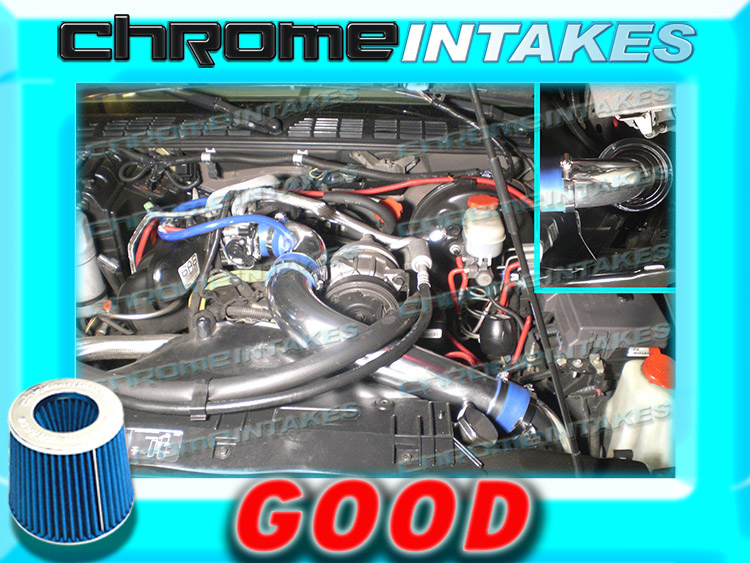 "98-03 CHEVY S10 ZR2//XTREME//HOMBRE//SONOMA FULL COLD AIR INTAKE KIT 3/"" Red Blue"