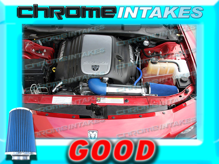 RED 05 06 07 08 09-15 CHARGER//MAGNUM//CHALLENGER//300 5.7//6.1 V8 COLD AIR INTAKE