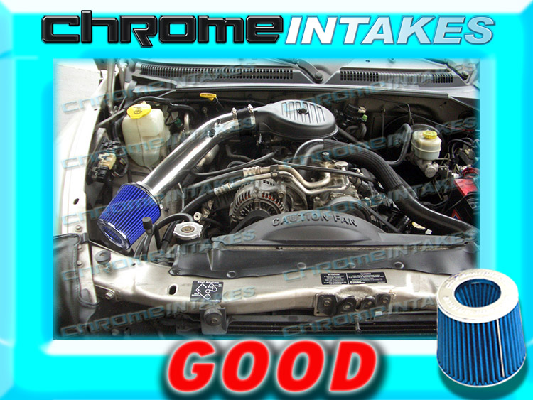 97 98-03 DODGE DAKOTA DURANGO 3.9L 5.2L 5.9L COLD AIR INTAKE KIT+K/&N Blue Red 2F