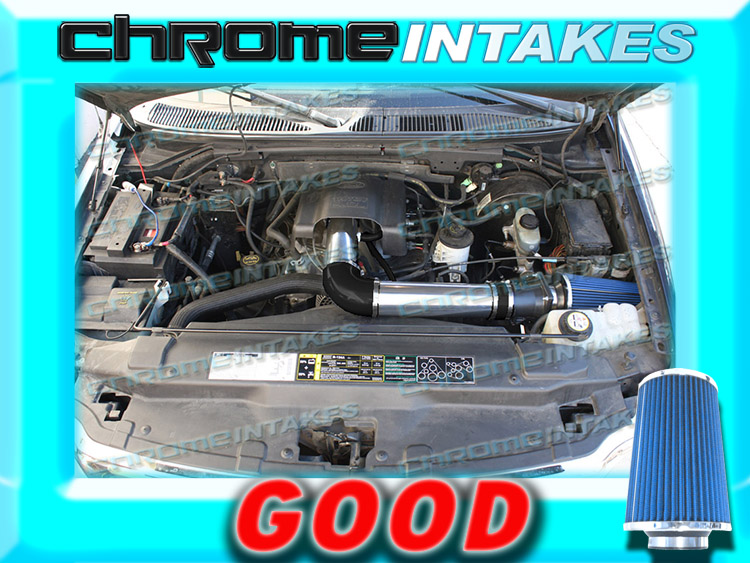 97-04 FORD F150 F250 EXPEDITION LINCOLN NAVIGATOR 4.6L 5.4L AIR INTAKE+K/&N Red