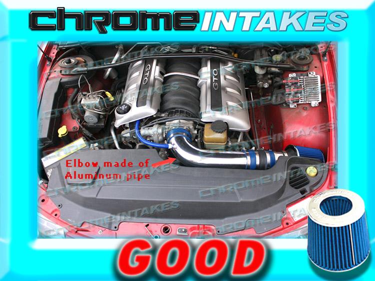 K/&N+BLUE RED NEW 04 PONTIAC GTO G T O 5.7 5.7L//6.0 6.0L V8 FULL AIR INTAKE