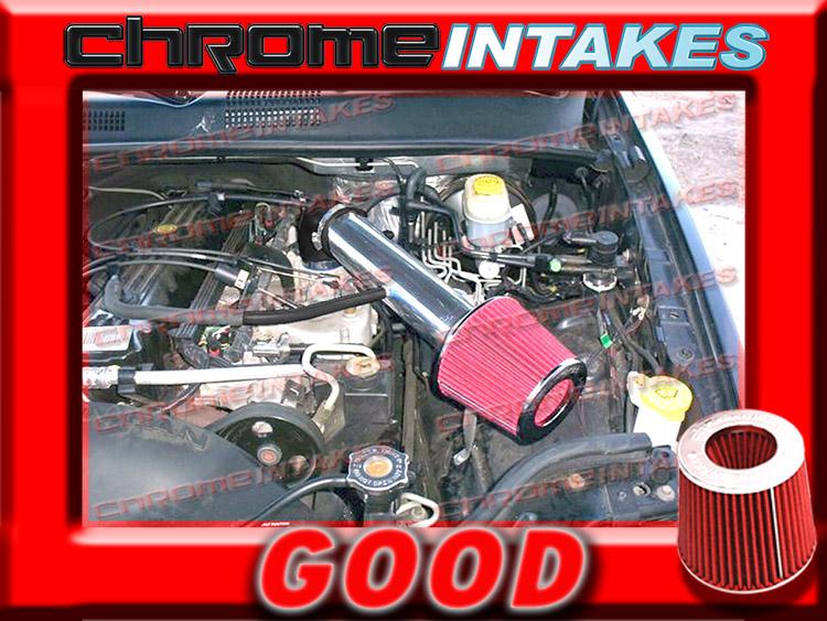 RED 1991-2004//91-04 JEEP CHEROKEE//GRAND 2.5L I4 4.0L I6 AIR INTAKE KIT 2