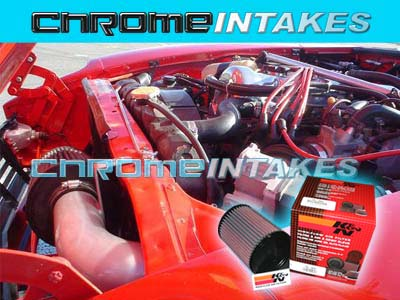 K/&N+RED COLD AIR INTAKE KIT FOR 75-83 NISSAN DATSUN 280Z 280ZX ZX 2.8L I6 N//T