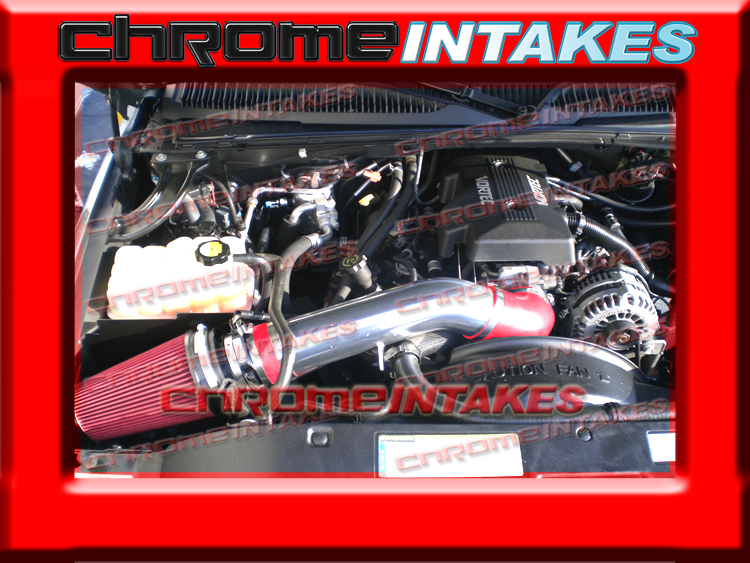 WB 99-06 07 CHEVY//GMC//CADILLAC TRUCK//SUV 4.8//5.3//6.0//8.1 COLD AIR INTAKE BLK RED